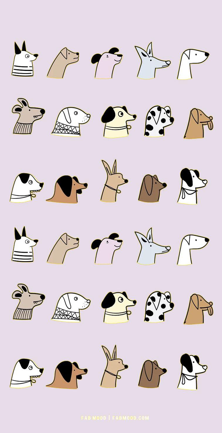 lavender background with dog, dog wallpaper with grey background, dog wallpaper, dog lover wallpaper hd, dog lover iphone wallpaper , iphone screen saver, cute wallpaper for phone, cute iphone wallpaper