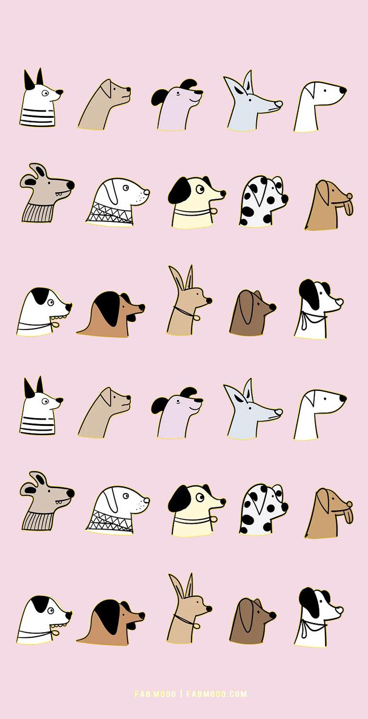 light pink background with dog, dog wallpaper with grey background, dog wallpaper, dog lover wallpaper hd, dog lover iphone wallpaper , iphone screen saver, cute wallpaper for phone, cute iphone wallpaper