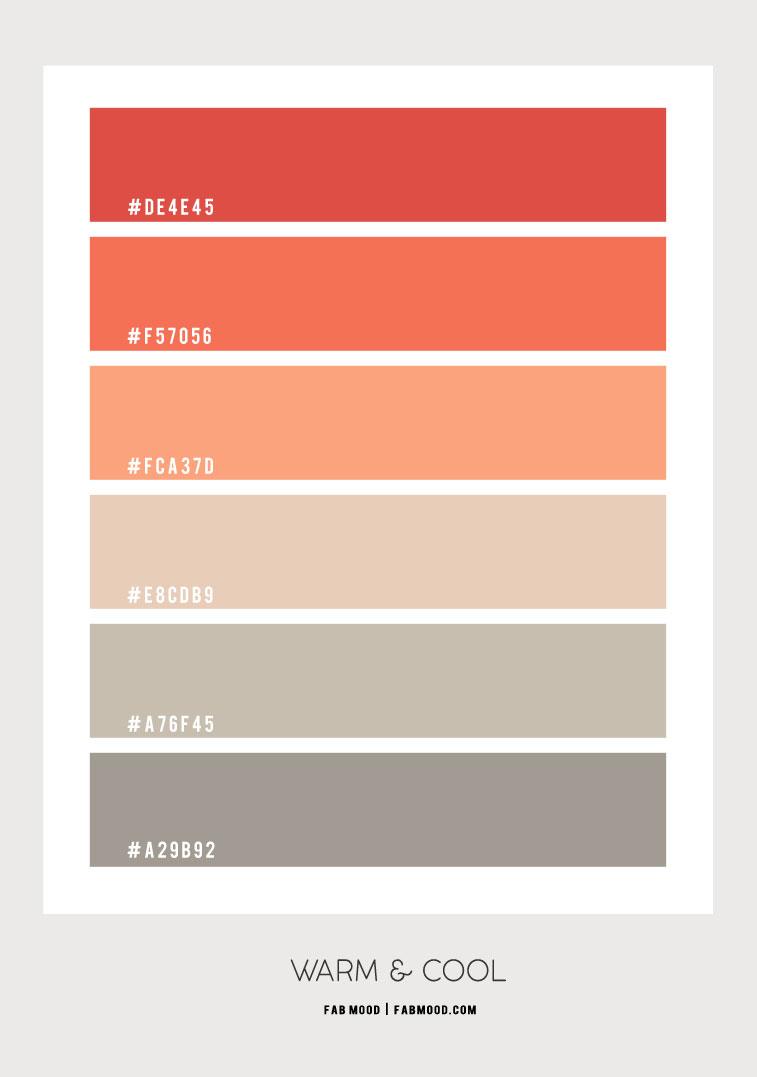 koralj i kadulja boja hex, paleta boja, kadulja i koralj, kadulja i naranča, kombinacija boja