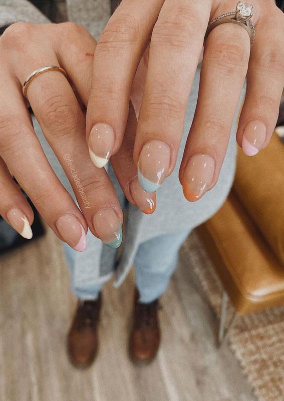 pastelni francuski nokti, uskršnji nokti, uskrsni nokti, nokti za uskrs, nokti za uskršnje nokte, uskrsni nokti 2021, pastelni nokti, uskršnji nokti u boji, uskršnji nokti akril