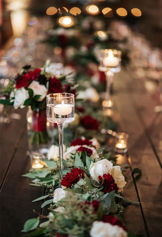 fall wedding table, fall wedding centerpiece, autumn wedding decor, autumn wedding colour, burgundy wedding, cozy wedding