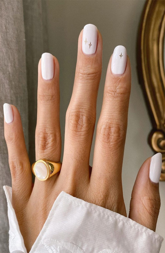 White Nail Ideas That're Classy and Fashionable