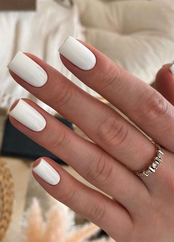 white nail polish, white nail art, white nails, white nail designs, white nail designs 2021, white nail designs coffin, white nail designs acrylic, white nail art, white nail ideas, white acrylic nails, simple white nail designs