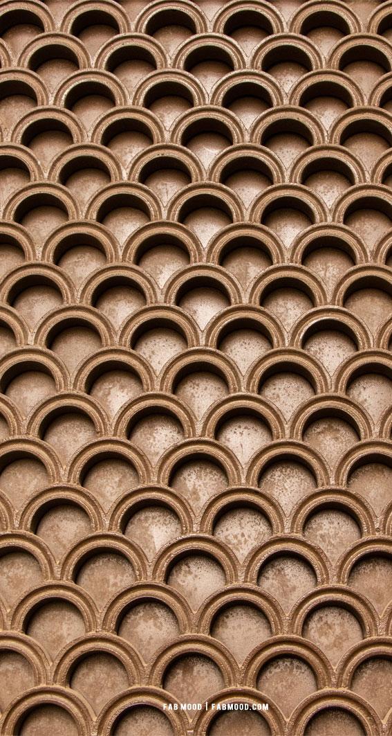 7 Aesthetic Brown Wallpaper : Brown Geometric Patter Wallpaper