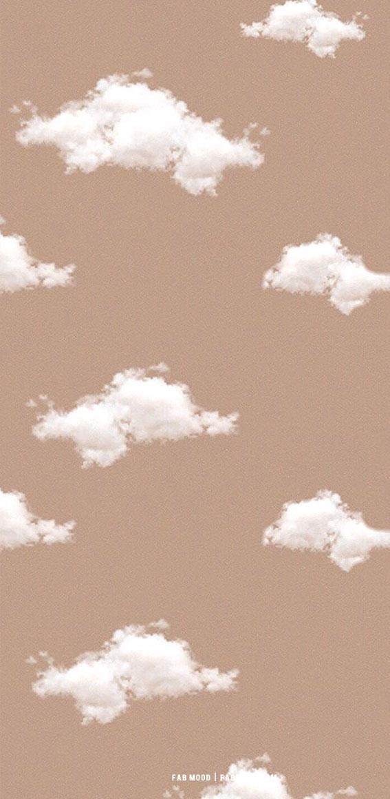7 Aesthetic Brown Wallpapers : Cloud Aesthetic Brown Wallpaper