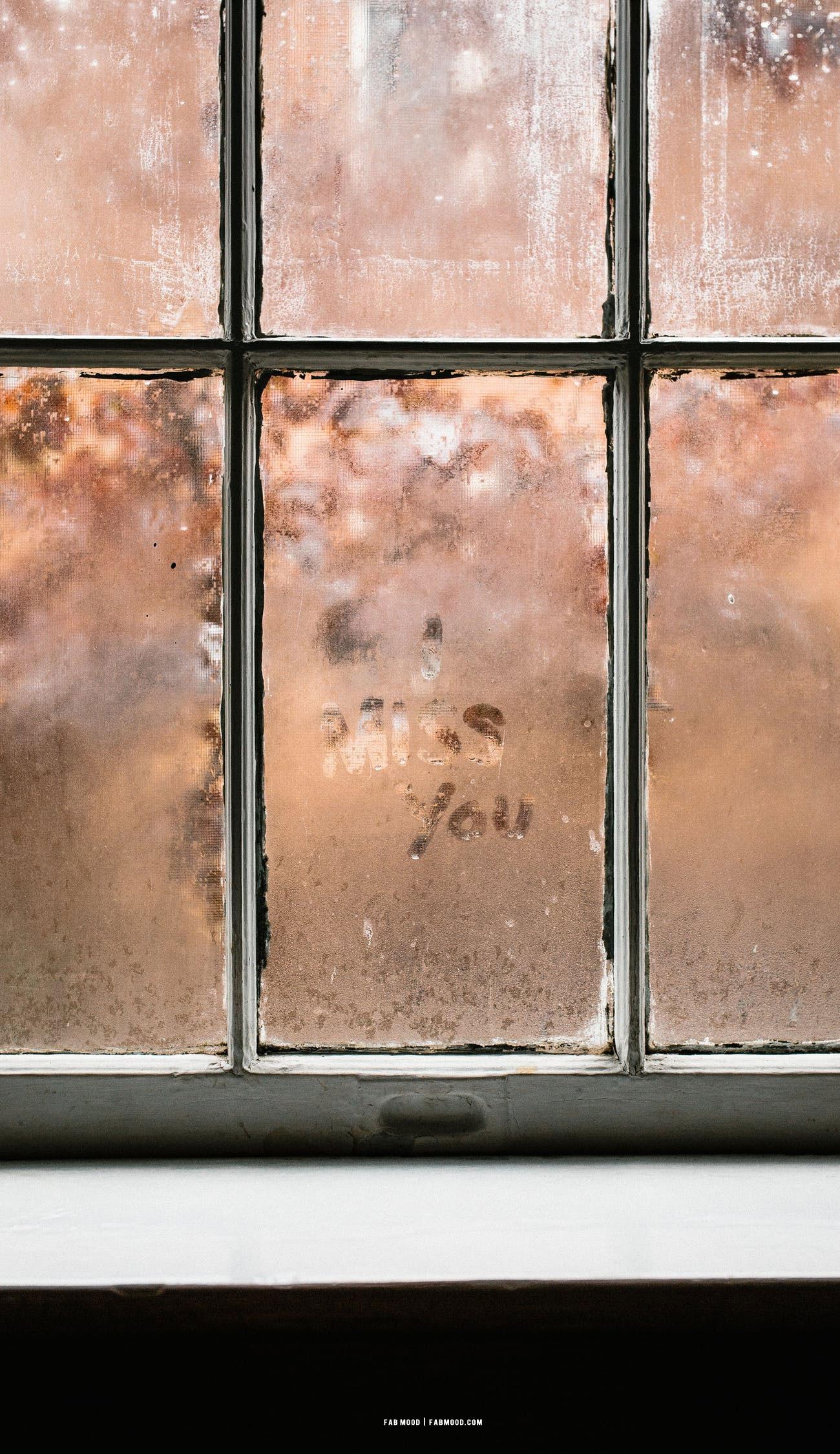 "7 Aesthetic Brown Wallpapers : ""Miss You"" Aesthetic Brown Wallpaper"