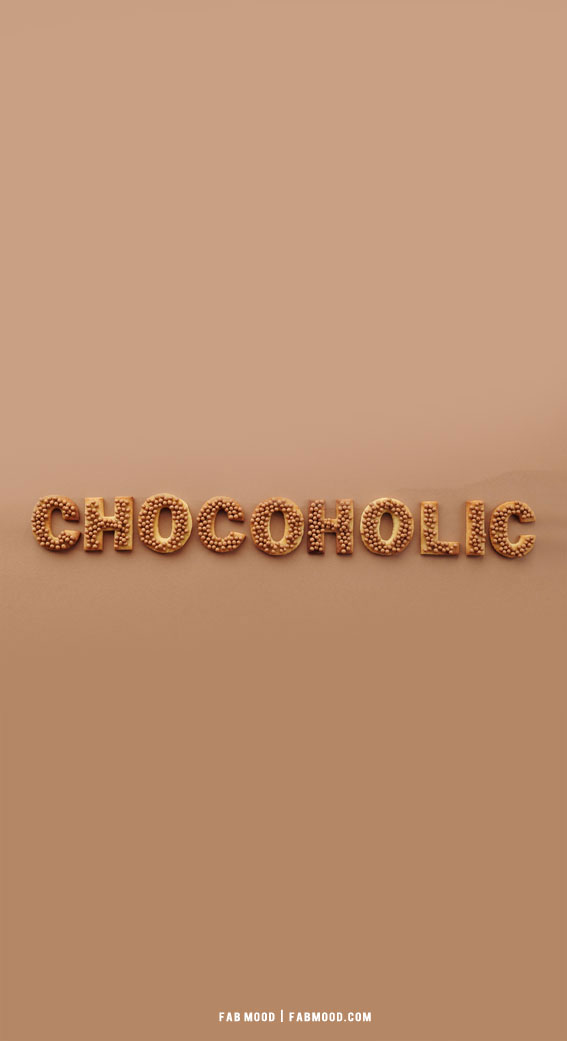 7 Aesthetic Brown Wallpapers : Chocoholic Aesthetic Brown Wallpaper