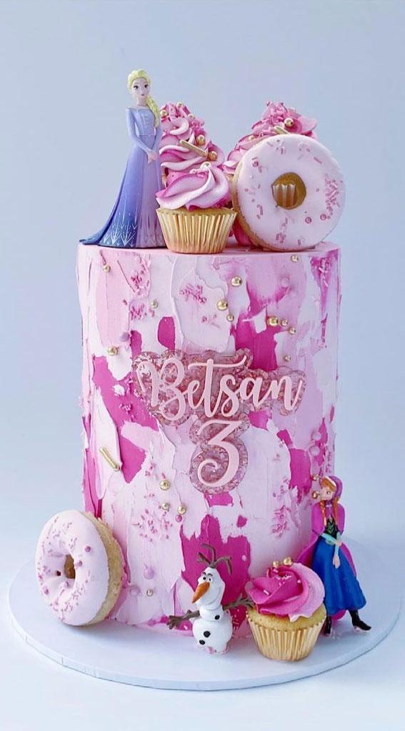 pink frozen birthday cake , frozen birthday cake decoration, frozen cake ides, disney frozen cake , frozen themed birthday cake, disney frozen birthday Cake, frozen cake ideas, images #frozencake #frozenbirthdaycake frozen themed cakes