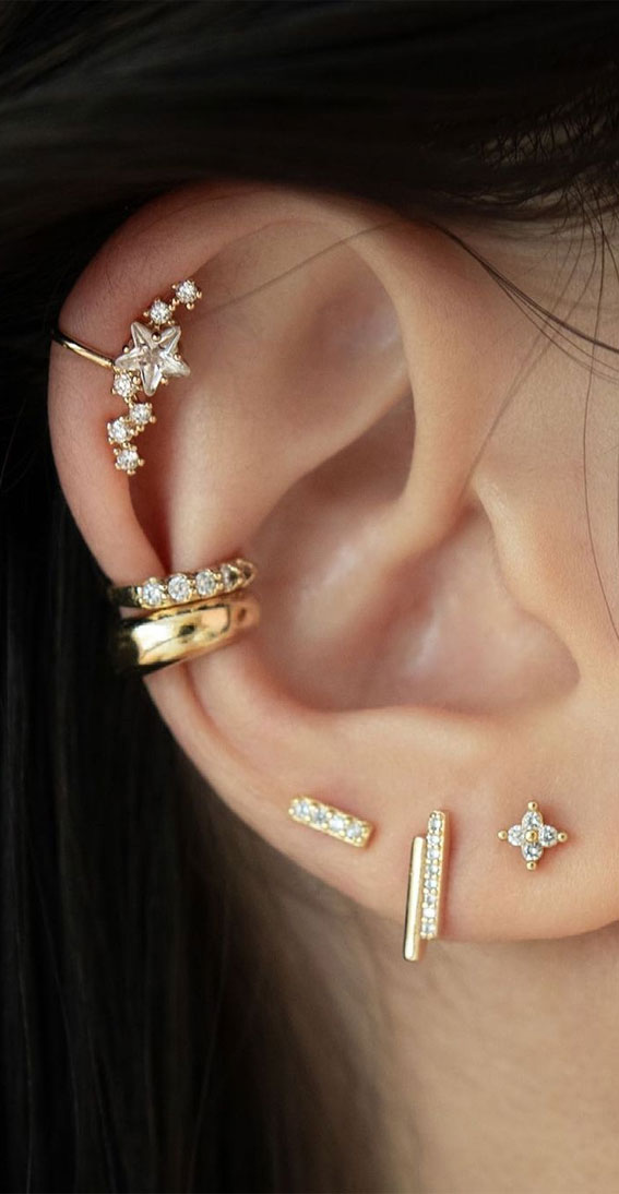 Constellation stack : Best Curated Ear Piercing trend 2021