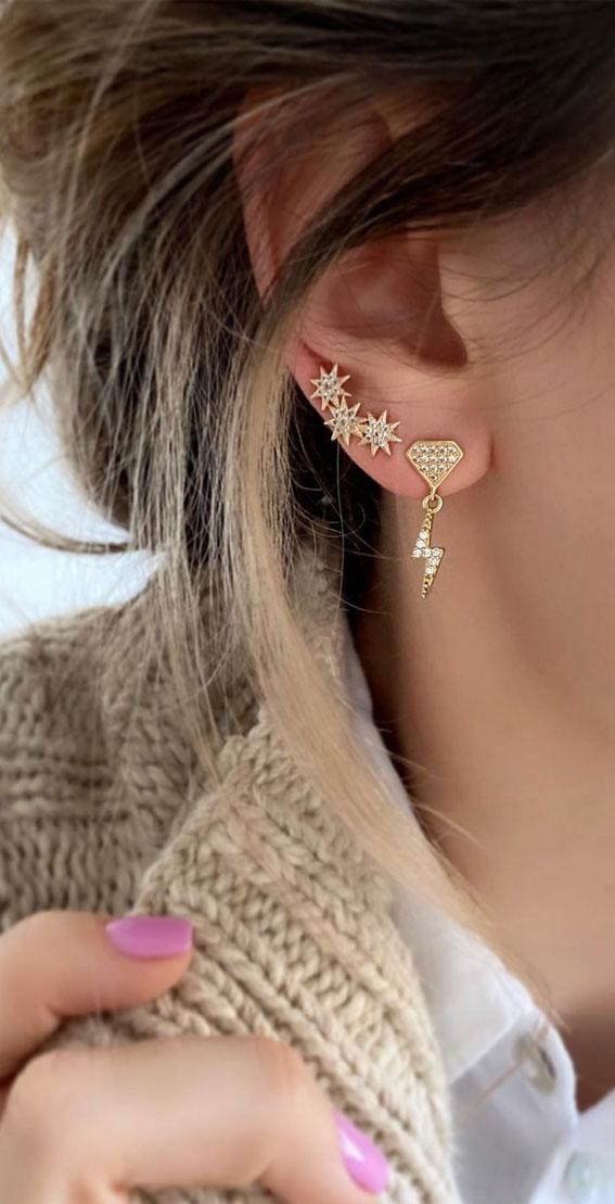 A fun pair of earrings: Best Curated Ear Piercing trend 2021
