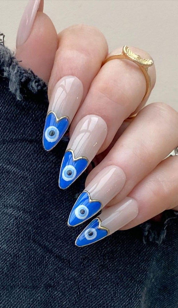 Creative Evil Eye Nails To Ward Off Bad Energy