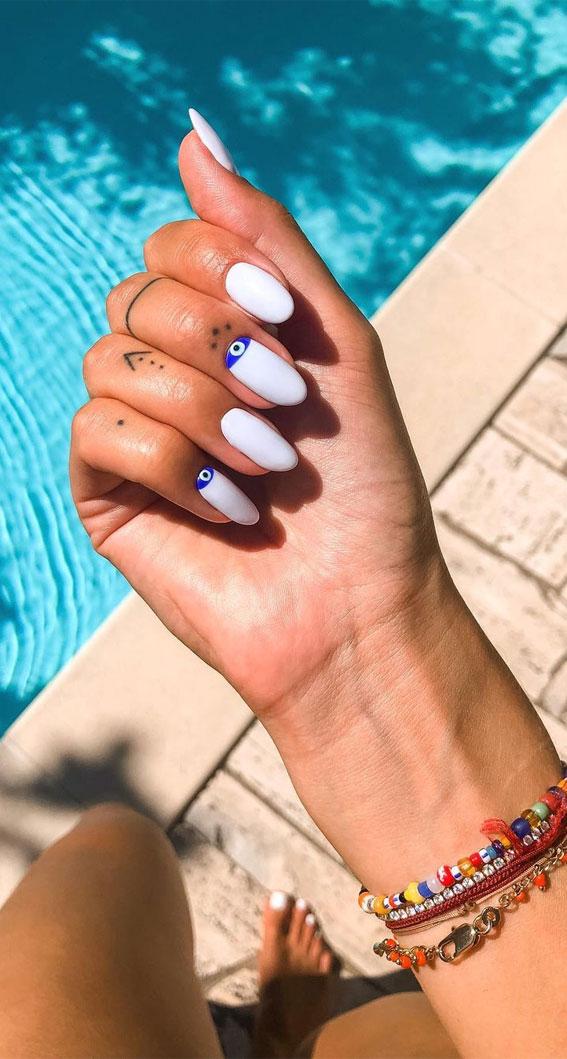 ljetni nokti, bijeli nokti zlih očiju, akrilni nokti zlih očiju, zli nokti nokti, zli nokti lijes, ružičasti zli nokti, crni zli nokti, plavi zli nokti, zli nokti dugi, zli oci francuski nokti, jednostavno zlo oko nokti, nokti na zlo oko kratki