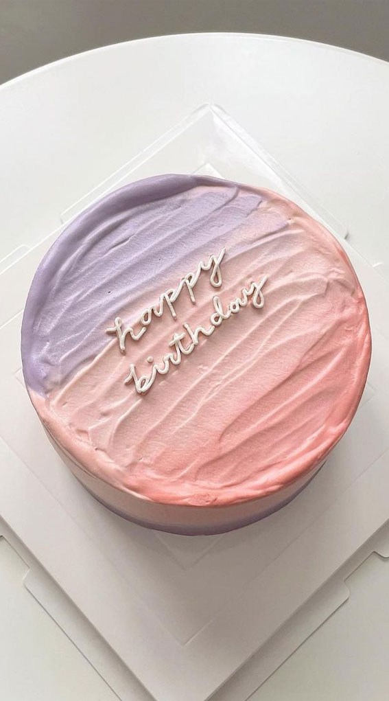 ombre pink and lavender color cake, minimalist cake, minimalist birthday cake, how to make a simple birthday cake, simple birthday cake , chocolate birthday cakes, classic birthday cake, homemade birthday cake , chocolate birthday cake, small birthday cake , simple birthday cake images