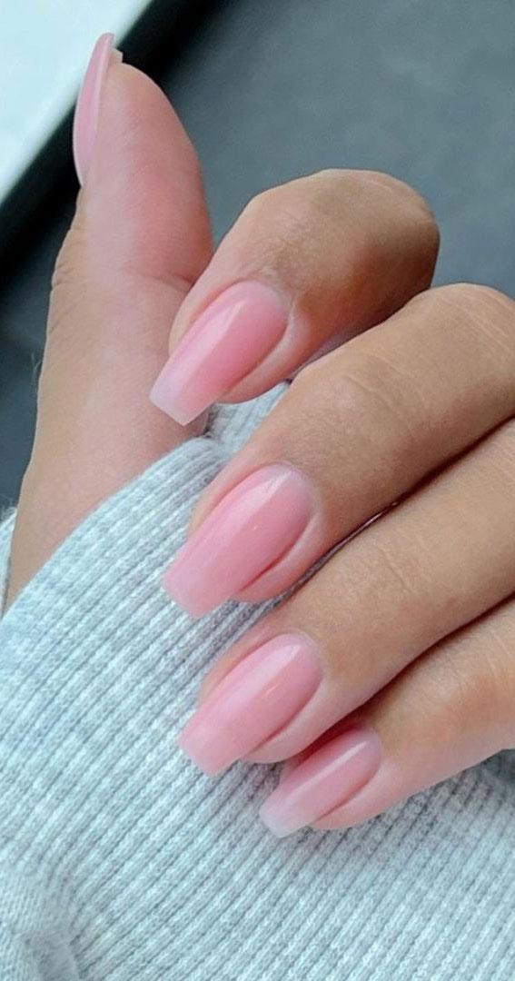 simple nude nails, simple nails, natural looking nails, pink nails, cute nails