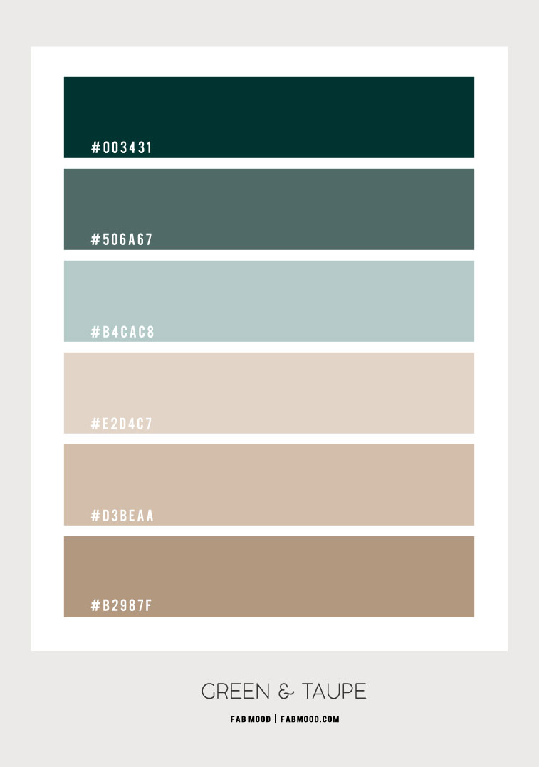 green and taupe color scheme, green and taupe color, color palettes 2021, best taupe color palette 2021, colors that go with taupe walls