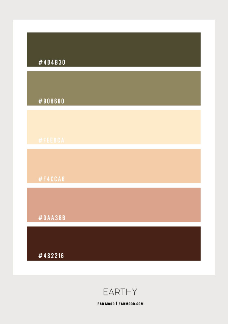 earth tone color palette, earth tone color hex, olive green color combination, olive color hex, warm earth tone color hex, warm earth tone color combo, olive and earth tone, sage and earth tone