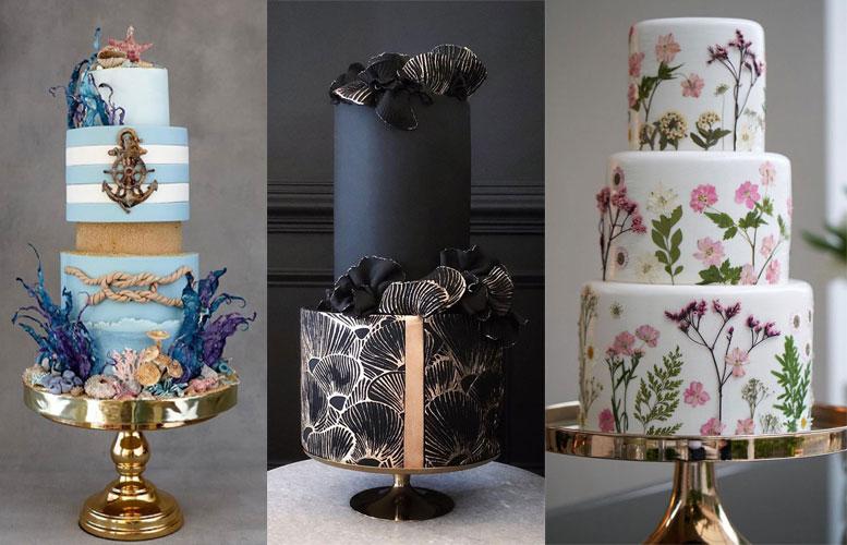 10 Pretty & Unique Wedding Cake Designs 2021