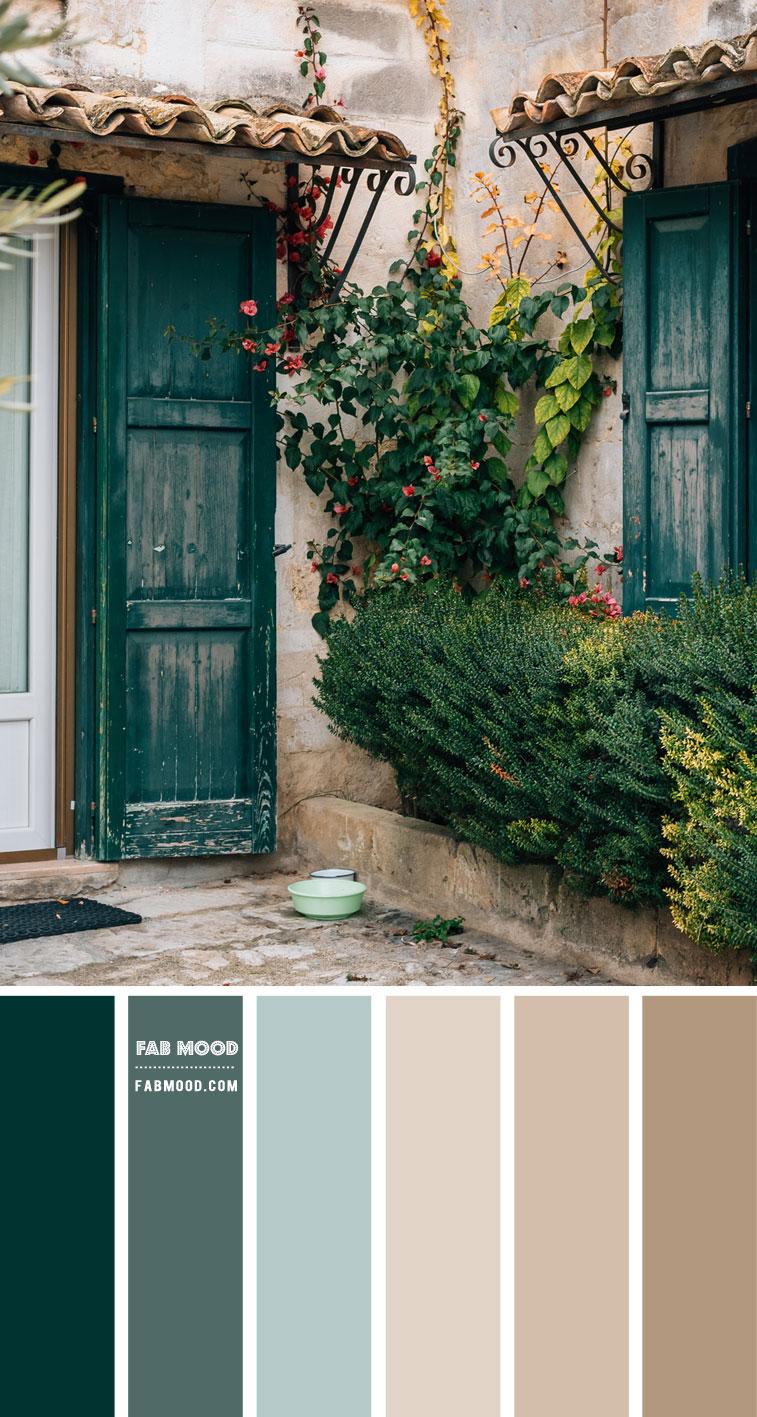 Green and Taupe Colour Scheme – Colour Palette 143