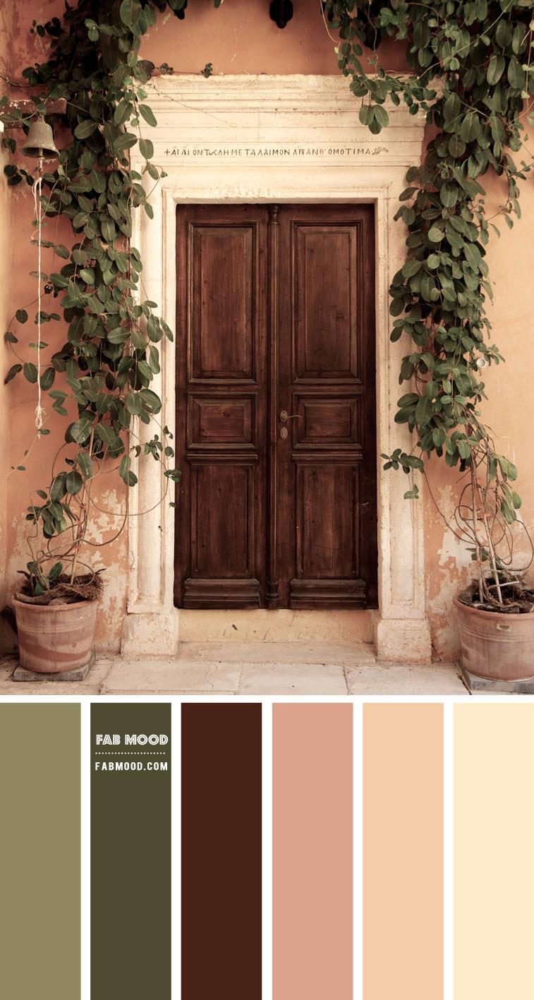 Olive + Sage & Warm Earth Tone Colour Scheme – Colour Palette 144