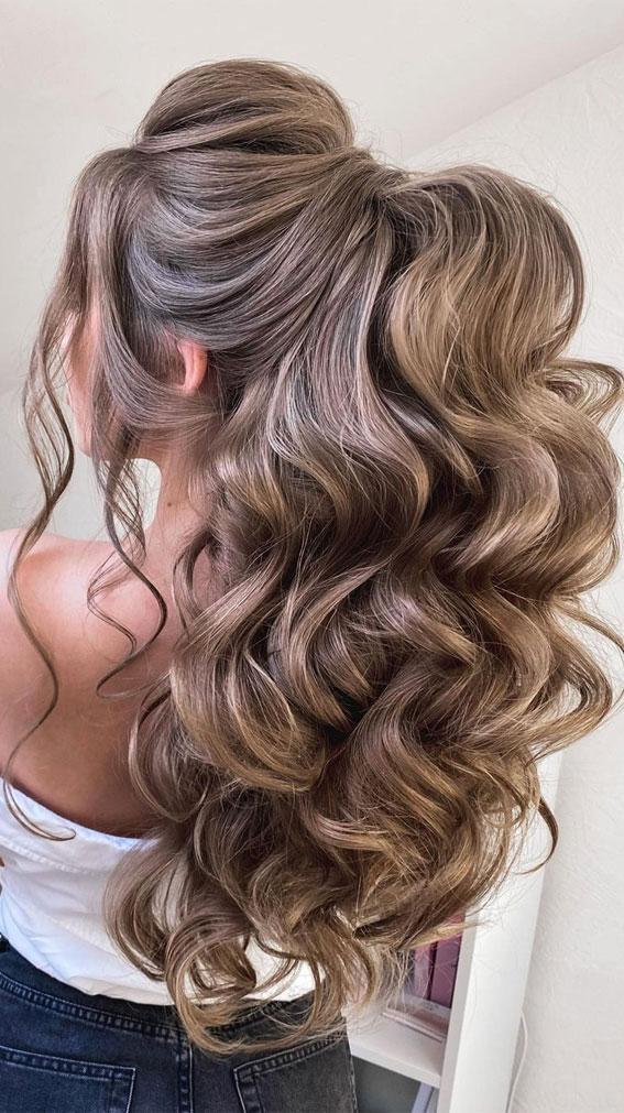 best half up half down hairstyles, half up half down for thick hair, half up half down hairstyle, boho half up, simple half up hairstyle, half up hairstyle ideas, half up half down hairstyles 2021