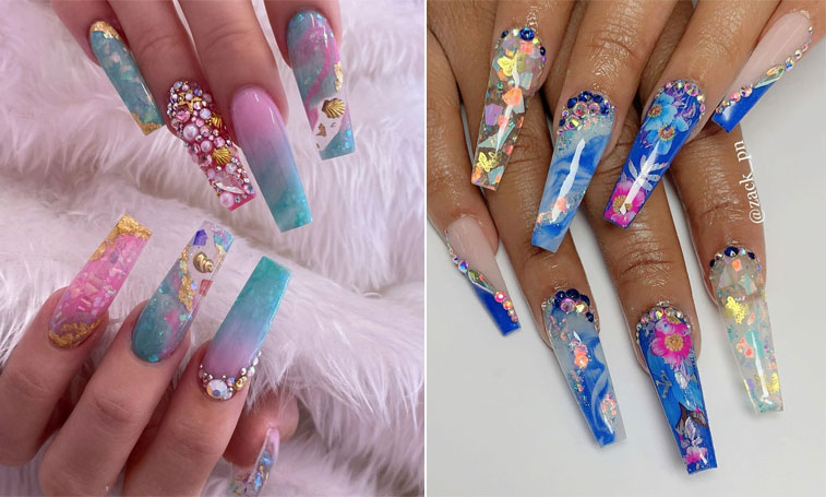 11 Encapsulated Nails Ideas To Keep Your Style On