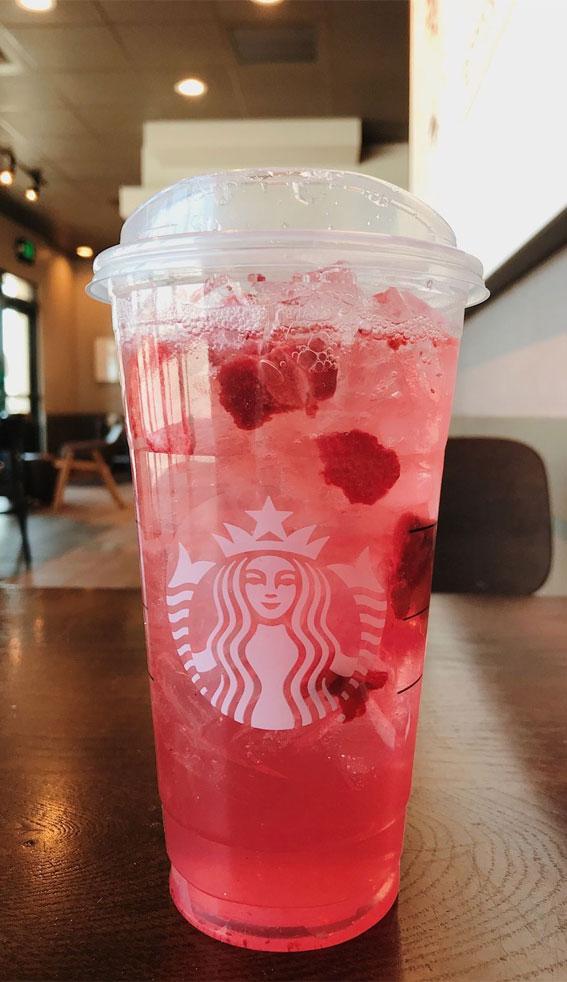 strawberry açaí & lemonade refresher, starbucks aesthetic drinks, starbucks aesthetic wallpaper, starbucks aesthetic, pink starbucks aesthetic , starbucks aesthetic collage, starbucks iced coffee, starbucks cold drinks, starbucks iced drinks