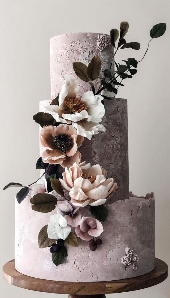 concrete effect cake, concrete wedding cake, concrete cake designs, unique wedding cakes