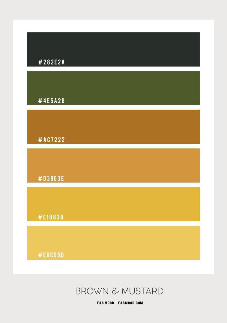 brown and mustard colour, brown and mustard color combination, brown and yellow combination, yellow and brown color hex, brown and yellow color combination