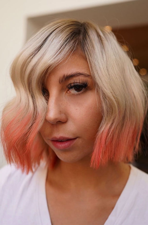 two tone hair color ideas for brunettes, Two tone hair color ideas for Brown Hair, two tone hair blonde and brown, two tone hair color for short hair, two tone hair color top and bottom, two tone hair color dark on top light on bottom