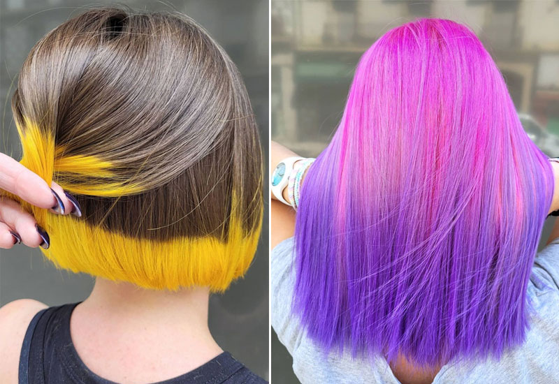 19 Two Tone Hair Color Ideas New Hair Color Trends 2021