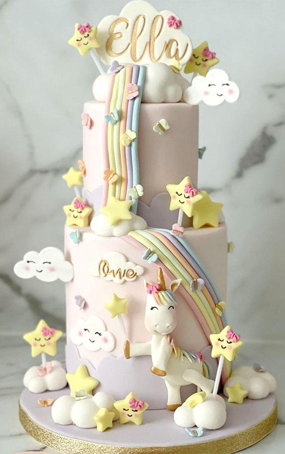 unicorn birthday cake, unicorn cake design , unicorn cake,unicorn cake rainbow, unicorn cake design 1 layer, unicorn cake design 2 layers, unicorn cake ideas