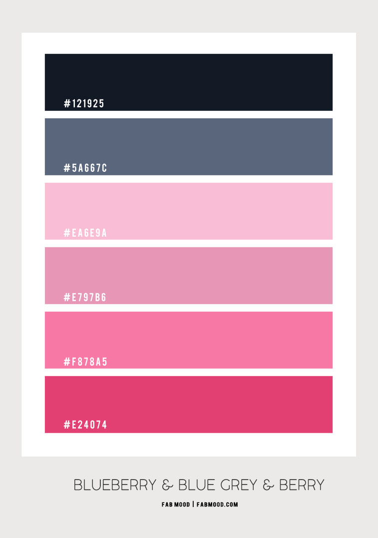 blue grey and berry colour scheme, blueberry and pink colour combo, dark blue and pink color combination, berry pink and blue grey colour scheme