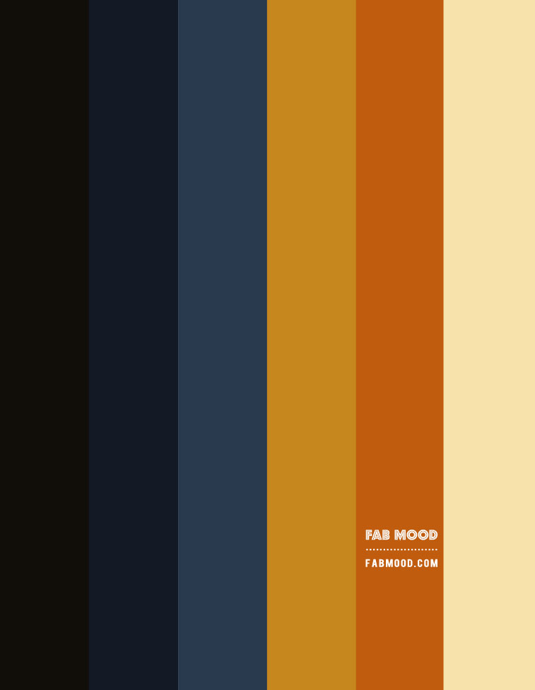 blueberry and caramel tone color, navy blue and copper color, navy blue and gold colour combination