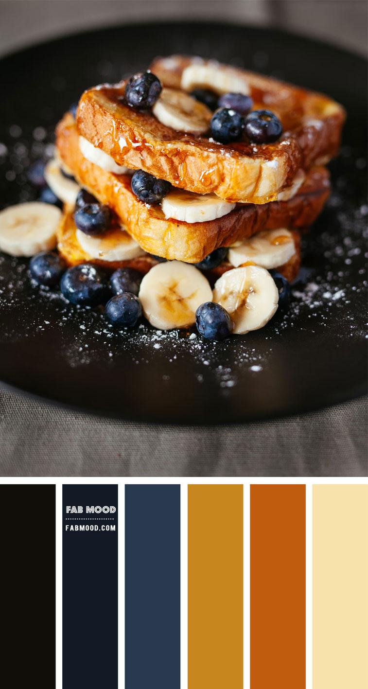 Blueberry and Golden Caramel Colour Scheme – Colour Palette 147